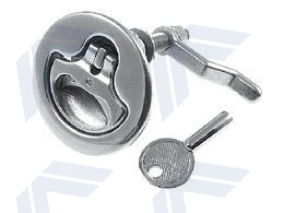Lifting ring with lock